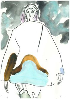 Modeconnect.com - Marc Jacobs A/W14 Illustration by Helen Bullock