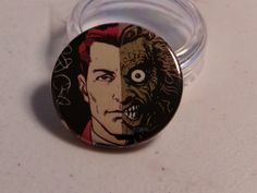 """Comic Book 1.5"""" Button// Two Face, $1.00"""