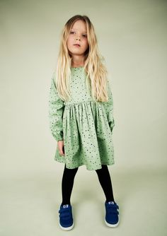 Mini Rodini AW15-16 Dot Green Dress Zirimola Blog