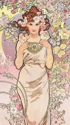Art Nouveau Mucha, Alphonse Mucha Art, Art Nouveau Poster, Art Nouveau Design, Inspiration Art, Art Inspo, Art And Illustration, Kunst Inspo, Jugendstil Design