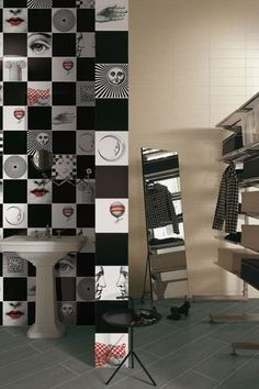 Ronald Van Der Hilst designer for Ceramica Bardelli presents the hand painted ceramic tiles Tuli-charme collection design. Spa Design, Wall Design, Gio Ponti, Painting Ceramic Tiles, Painting Art, Piero Fornasetti, Relaxing Bath, Bathroom Spa, Room Accessories