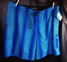 Mens Columbia  Swim Trunks 3x Blue Print with UPF 30 #Columbia #Trunks $32