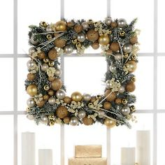 Square Christmas wreath! Love it!