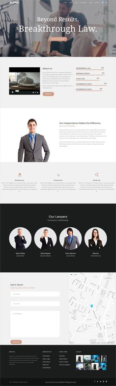 Alpha dot is awesome multipurpose responsive #WordPress theme for #lawyer #law firms website with 18+ niche homepage layouts, 75+ pages & 20+ widgets download now..