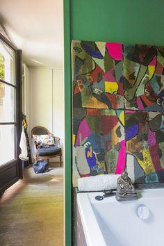 La maison de Colombine en Île-de-France allie optimisation d'espace et association de couleurs fortes ! A découvrir dans notre dernier magazine http://dccvmag.leroymerlin.fr