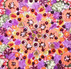 英国艺术家用蔬果作画 极致美感让人无法下口