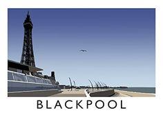 Blackpool Art Print (A3) Chequered Chicken…