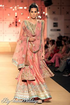 Ashima Leena bridal lehenga. Join us at our facebook page -  http://www.facebook.com/pages/Private-Label/123846697662912