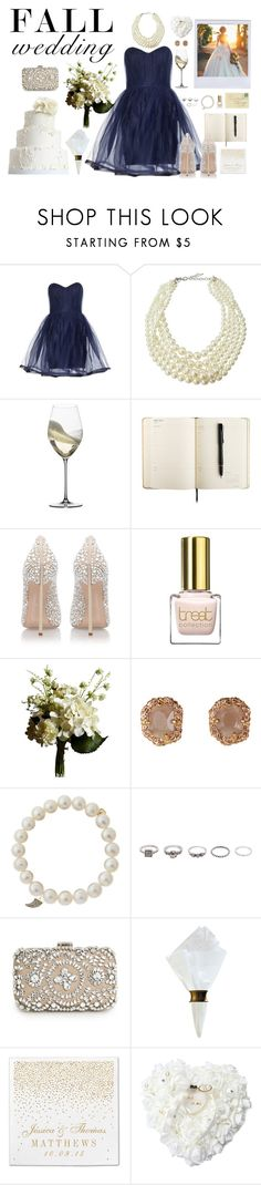 """""""And He Said """"Speak Now"""""""" by hschooley ❤ liked on Polyvore featuring Alice + Olivia, Emily & Ashley, Riedel, Casadei, Abigail Ahern, Sydney Evan, BKE, MANGO, C & F and fallwedding"""
