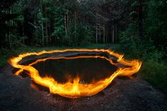 """Around the pond  © Tomi Lehtola    Location:  Oulunsalo, Finland    This reminds me of the Johnny Cash song """"The Ring of Fire"""""""