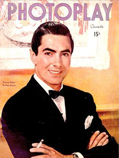 Tyrone Power, a mag cover from the 1940s by Paul Hesse