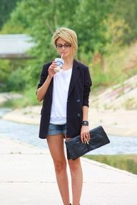 Blazer + shorts = cute