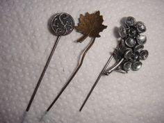 Anstecknadel Pin 3 Stück verschiedene Materialien eine mit Punze 710
