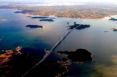 Raippaluoto bridge. Ostrobothnia province of Western Finland.- Pohjanmaa - Österbotten
