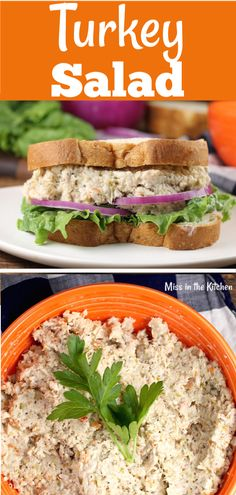 Turkey Salad {VIDEO} - Miss in the Kitchen The best ever Turkey Salad is a great way to enjoy that leftover Thanksgiving turkey! Makes amazing sandwiches or serve it up with crackers! Turkey Salad Sandwich, Turkey Lunch Meat, Turkey Sandwiches, Turkey Leftovers, Sandwich Recipes, Chicken Leftovers, Cold Sandwiches, Dinner Sandwiches, Sandwich Fillings