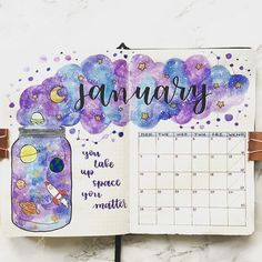 Looking for Inspiration on your latest Bullet Journal theme? Here are 12 Out of this world galaxy and space themed bullet journal spreads Bullet Journal School, Bullet Journal Headers, Bullet Journal Month, Bullet Journal Tracker, Bullet Journal Notebook, Bullet Journal Spread, Bullet Journal Ideas Pages, Bullet Journal Layout, Bullet Journal Inspiration