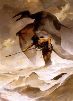 """gameraboy1: """"Edgar Rice Burroughs' Back to the Stone Age by Jeffrey Jones """""""