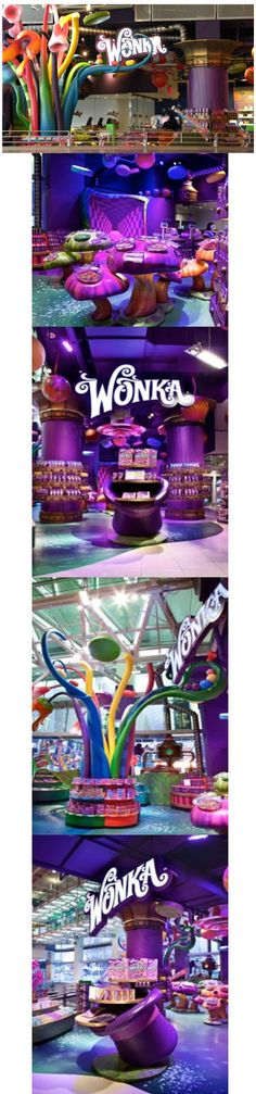 Willy Wonka Candy, Design Firm: RockTenn Merchandising Displays, Burbank, Calif. ¬– Craig Clarke, national creative director, Fixtures, Props and decoratives, Signage/Graphics, Wallcoverings  and Materials: Creative Arts Unlimited Inc., Pinellas Park, Fla.