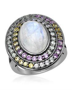 Кольцо YOURS BY LOREN из серебра 925 пробы с лунным камнем в 9,13 К