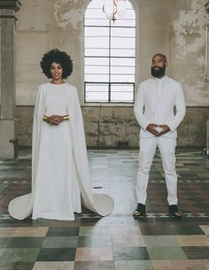 Beyonce's sister, Solange Knowles dressed in a... #wedding #solange #weddingdress