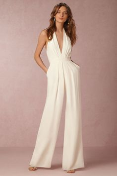 This wedding jumpsuit is a chic and comfortable option.