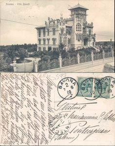 CARTOLINA D'EPOCA-SAVONA CITTA'-SAVONA-VILLA ZANELLI-VIAGGIATA 1919-TH-501577   eBay