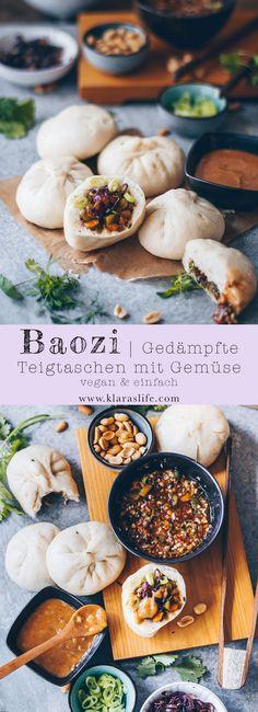 Baozi – gedämpfte Teigtaschen – New Ideas - Vegan Recipes Healthy Snacks To Buy, Easy Snacks, Easy Healthy Recipes, Clean Eating Snacks, Asian Recipes, Vegetarian Recipes, Easy Meals, Meat Recipes, Steamed Dumplings