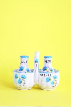 Vintage Italian Souvenir Salt and Pepper Shaker Set