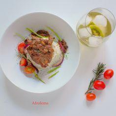 Pan Seared Ram and Mashed Potatoes