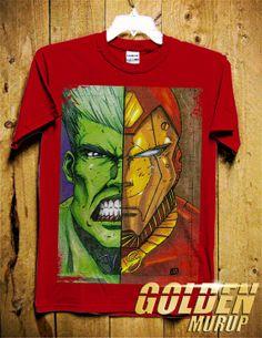 IronMan Vs Hulk Men TShirt  Superheroes TSHhirt  by GoldenMurup, $18.98