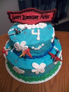 Planes Cake-Black Dog Bakery by Brianna
