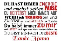 Danke Mama | Muttertag | Echte Postkarten online versenden | MyPostcard.com