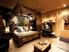 Home Decorating Style 2020 for 49 Luxury African Bedroom Decor Ideas, you can see 49 Luxury African Bedroom Decor Ideas and more pictures for Home Interior Designing 2020 5145 at Home To. African Bedroom, African Living Rooms, Apartment Interior, Room Interior, Bedroom Themes, Bedroom Decor, Beaumont House, Safari Home Decor, African Interior Design