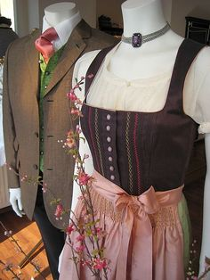 GÖSSL - Salzburg. I like the detail of the piping on the yoke, and the embroidery could be done on my Pfaff fancy stitches