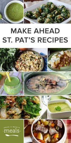 Make Ahead St. Patrick's Day Recipes!