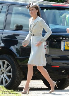 Kate at the wedding of Princess Diana's niece, Emily McCorquodale on June 9 2012 in the Lincolnshire Hamlet of Stock Rochford