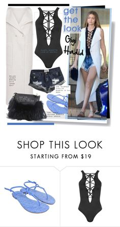 """""""Get the look: Gigi Hadid"""" by hamaly ❤ liked on Polyvore featuring Tory Burch, Roland Mouret, Emm Kuo, WearAll and OneTeaspoon"""
