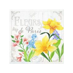 Fleurs de Paris Canvas Art Themes, Luxury Gifts, Baby Clothes Shops, Mother Day Gifts, Giclee Print, Graphic Art, Kids Shop, Canvas Art, Prints