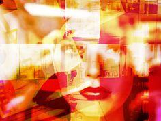 'Red lips in the city' von Gabi Hampe bei artflakes.com als Poster oder Kunstdruck $23.56