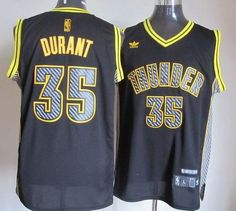 cb20889e03e Thunder  35 Kevin Durant Black Electricity Fashion Embroidered NBA Jersey!  Only  25.50USD Cycling