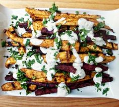 Perfect BBQ side dish (and healthier too). These Grilled Sweet Potato Fries with Chili Cilantro Sour...
