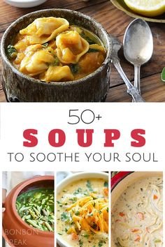 50+ Fall Soup Recipes To Warm Your Soul - whether you want chicken soups, seafood soups, veggie soups, noodle soups or something else...we probably have it for you in this awesome round up!