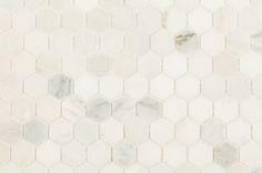"Arabescato Carrara Hexagon / 1"" / Honed"