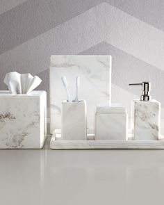 13 ideas for creating a more manly masculine bathroom - Black marble bathroom accessories ...