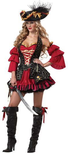The Spanish Pirate Costume is the best 2019 Halloween costume for you to get! Everyone will love this Womens costume that you picked up from Wholesale Halloween Costumes! Pirate Wench Costume, Pirate Dress, Female Pirate Costume, Pirate Outfits, Pirate Halloween Costumes, Adult Costumes, Costumes For Women, Adult Halloween, Spirit Halloween