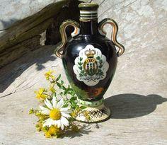 Vintage Marmaca Pottery Liqueur Bottle Vase  by HazeArtandAntiques