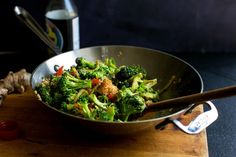 Stir-fried Broccoli Stalks and Flowers, Red Peppers, Peanuts and Tofu Recipe - NYT Cooking