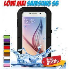 Fundas, carcasas, bumpers Love Mei para moviles Samsung Galaxy S6. Funda metal aluminio ultra resistente anti golpes impermeable. ¡Novedades accesorios Smartphone!