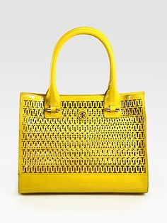 Tory Burch - Mini Georgiana Patent Leather Tote Bag - Saks.com