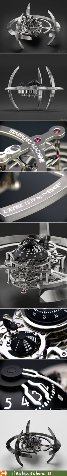 The Starfleet Time Machine. A limited edition table clock inspired by sci-fi (specifically Star Trek's Deep Space Nine) made by two French horology companies.